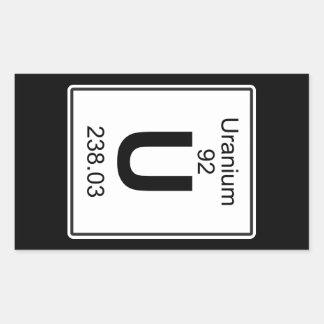 U - Uranium Rectangular Sticker