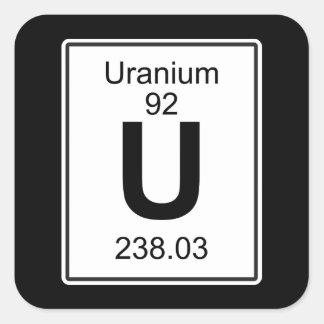 U - Uranium Square Sticker