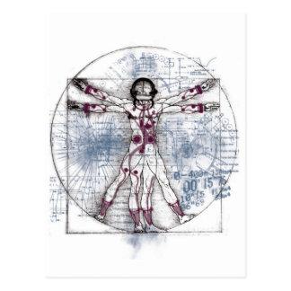 U.V MAN(Universal Vitruvian Man) Postcard