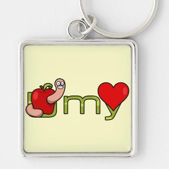 U worm my heart keychain