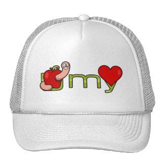 U worm my heart trucker hat