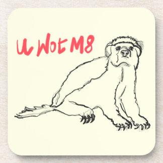 U Wot M8 Honey Badger Funny Animal Slogan Design Drink Coaster