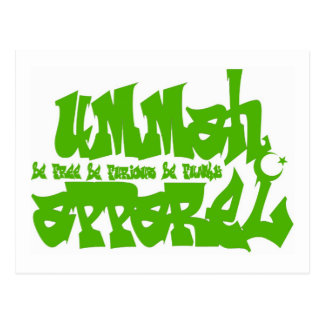 UA de verde de la pintada Postales