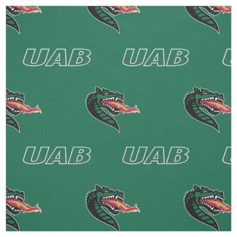 UAB Green Pattern Fabric