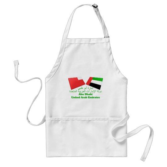 UAE & Abu Dhabi Flag Tiles Adult Apron