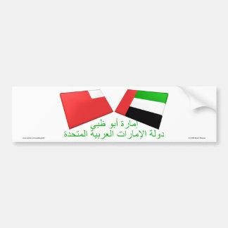 UAE & Abu Dhabi Flag Tiles Bumper Stickers