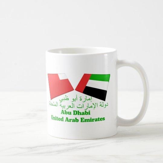 UAE & Abu Dhabi Flag Tiles Coffee Mug