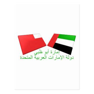 UAE & Abu Dhabi Flag Tiles Postcard
