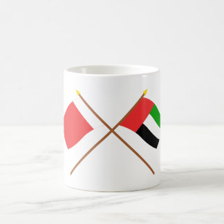UAE and Ajman Crossed Flags Coffee Mug