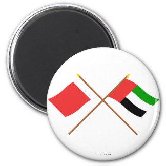UAE and Dubai Crossed Flags Magnets