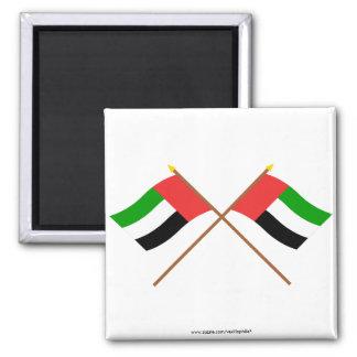 UAE and Fujairah Crossed Flags Magnets