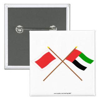 UAE and Ras al-Khaimah Crossed Flags Pinback Buttons