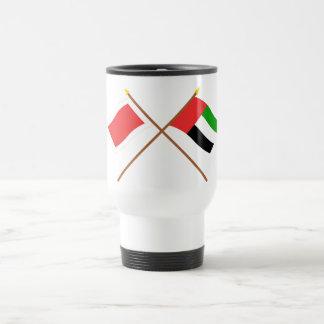 UAE and Ras al-Khaimah Crossed Flags Travel Mug