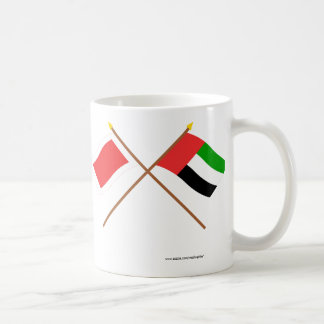 UAE and Sharjah Crossed Flags Coffee Mug