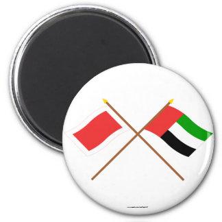 UAE and Sharjah Crossed Flags Magnets