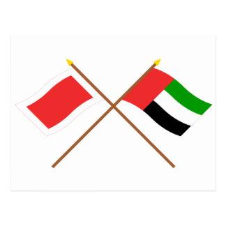 UAE and Sharjah Crossed Flags Postcard