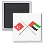 UAE and Umm al-Quwain Crossed Flags Fridge Magnets