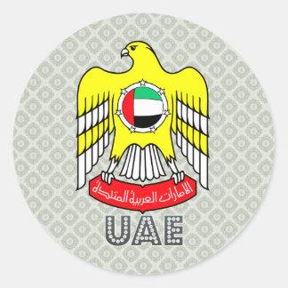 Uae Coat of Arms Classic Round Sticker