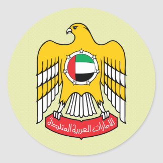 Uae Coat of Arms detail Classic Round Sticker