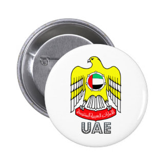 Uae Coat of Arms Pinback Button