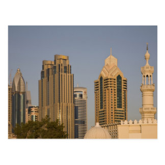 UAE, Dubai. Alminar de la mezquita en el Al Wasl, Tarjeta Postal