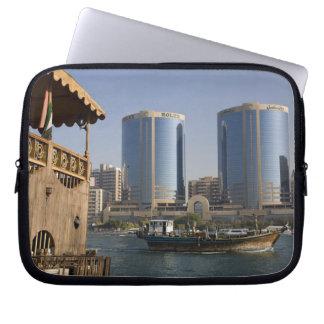 UAE, Dubai, Dubai Creek. Dhow cruises channel Laptop Computer Sleeve