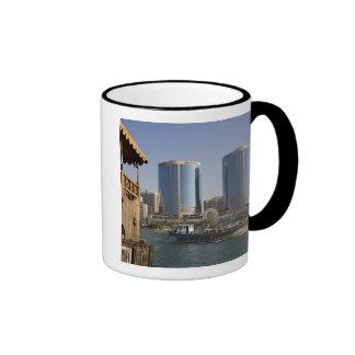 UAE, Dubai, Dubai Creek. Dhow cruises channel Coffee Mug
