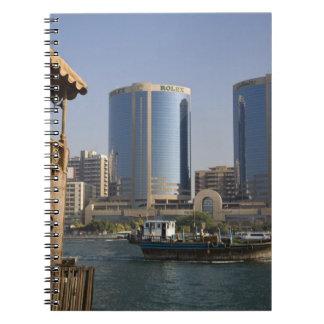 UAE, Dubai, Dubai Creek. Dhow cruises channel Notebook
