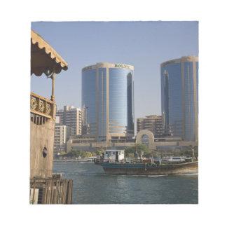 UAE, Dubai, Dubai Creek. Dhow cruises channel Memo Pad