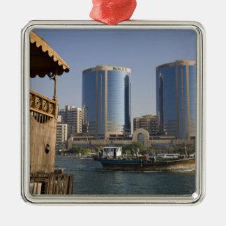 UAE, Dubai, Dubai Creek. Dhow cruises channel Christmas Tree Ornaments
