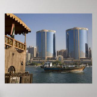 UAE, Dubai, Dubai Creek. Dhow cruises channel Print