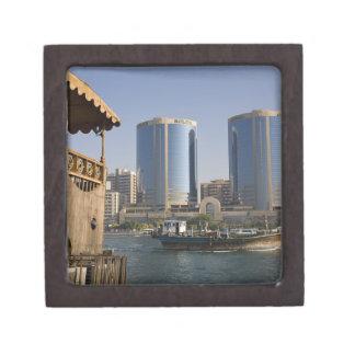 UAE, Dubai, Dubai Creek. Dhow cruises channel Premium Jewelry Box