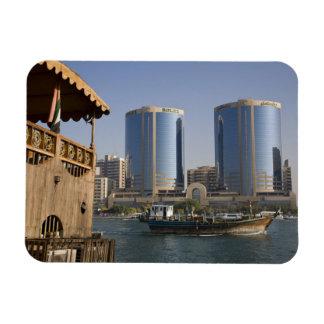 UAE, Dubai, Dubai Creek. Dhow cruises channel Vinyl Magnets