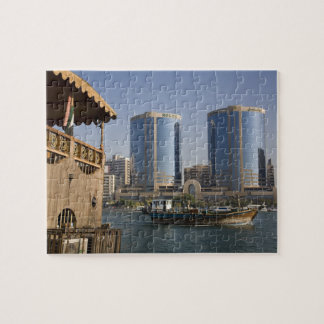 UAE, Dubai, Dubai Creek. Dhow cruises channel Puzzles