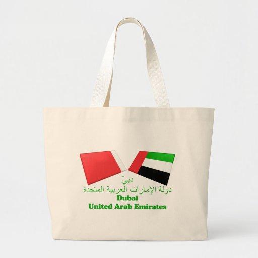 UAE & Dubai Flag Tiles Bag