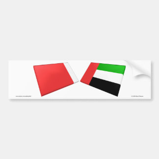 UAE & Dubai Flag Tiles Bumper Sticker