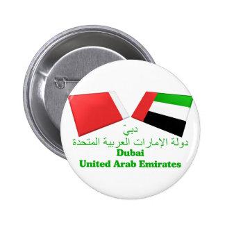UAE & Dubai Flag Tiles Button