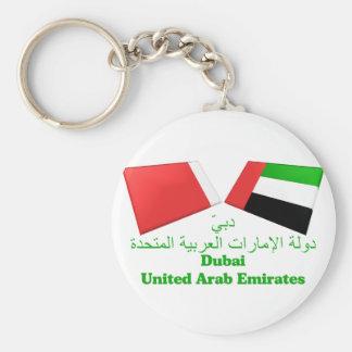 UAE & Dubai Flag Tiles Keychain