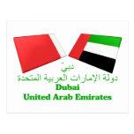 UAE & Dubai Flag Tiles Postcards