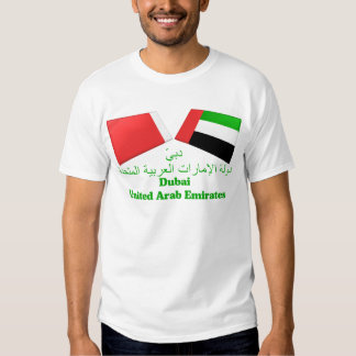 UAE & Dubai Flag Tiles Shirt