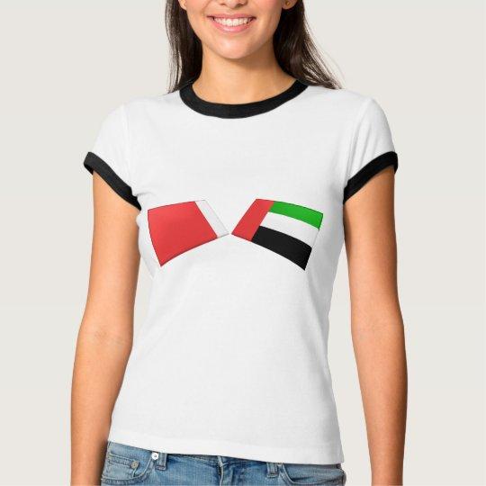 UAE & Dubai Flag Tiles T-Shirt