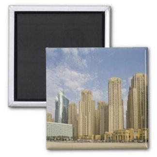 UAE, Dubai, Marina. Jumeirah Beach Residence 2 Inch Square Magnet