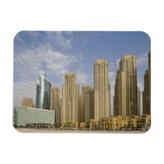 UAE, Dubai, Marina. Jumeirah Beach Residence Rectangular Photo Magnet