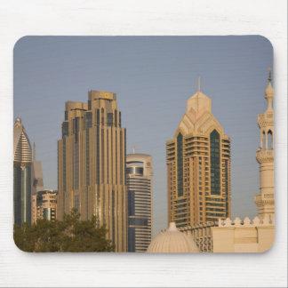 UAE, Dubai. Minaret of mosque in Al Wasl, with Mouse Pad