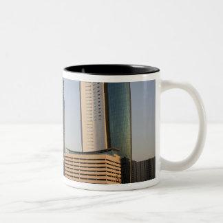 UAE, Dubai. Park Place Tower and other Two-Tone Coffee Mug