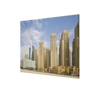 UAE, Dubai, puerto deportivo. Residencia de la pla Impresiones En Lienzo Estiradas