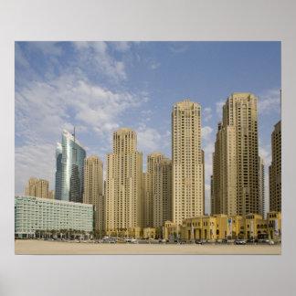 UAE Dubai puerto deportivo Residencia de la pla Posters