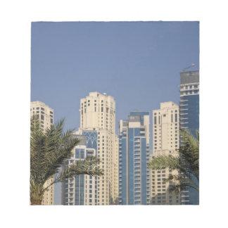 UAE, Dubai. Torres de la residencia de la playa de Bloc De Notas