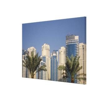 UAE, Dubai. Torres de la residencia de la playa de Impresiones En Lienzo Estiradas