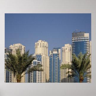 UAE Dubai Torres de la residencia de la playa de Poster